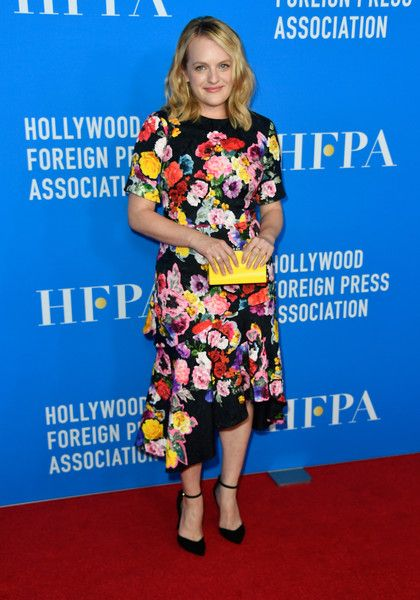 Elisabeth Moss attends the Hollywood Foreign Press Association's Grants Banquet.
