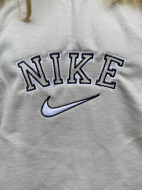 Nike Spell Out Double Wall Embroidered Sweatshirts Nike Crewneck Sweatshirt Vintage Nike Sweatshirt