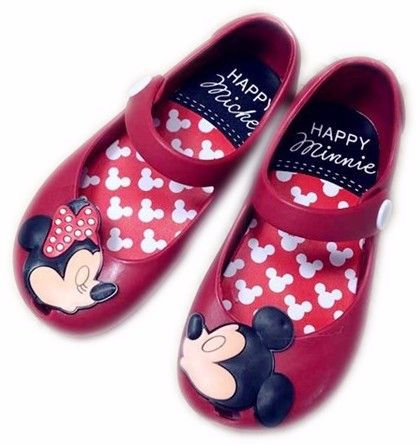2ee98a0f9282 Minnie and Mickey Mouse Kids Jelly Shoes