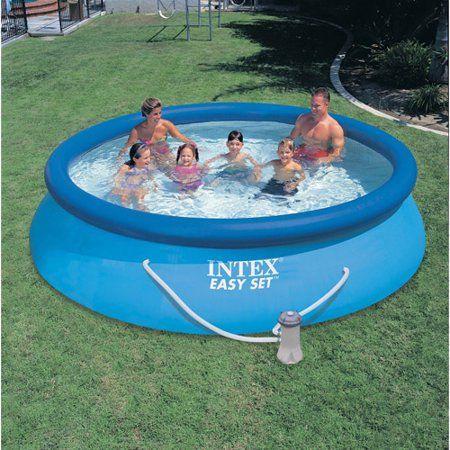 Intex 12 X 30 Easy Set Above Ground Swimming Pool Filter Pump 28131eh Walmart Com Easy Set Pools Intex Round Pool
