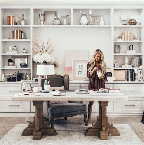 New Gallery — Alexa Jean Brown Cozy Home Office, Guest Room Office, Home Office Design, Home Office Decor, Home Interior Design, Home Decor, Cool Office Space, Home Office Furniture, Office Interiors