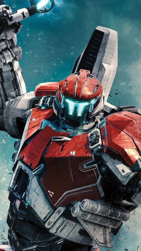 awe-inspiring wallpaper Red robot Pacific Rim uprising movie 2018 7201280 wallpaper
