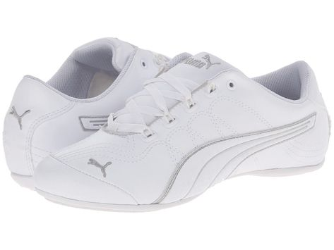 17a957e67d7d NIB Puma 358927-02 Soleil v2 Comfort Fun Womens Shoes Sneakers white silver