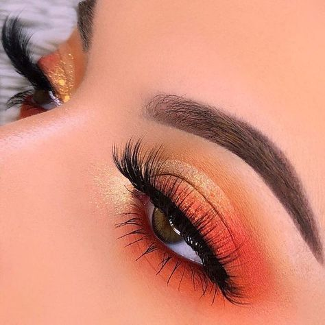 ColourPop Orange You Glad Palette This colourpop eyeshadow one of the best eyesh. - ColourPop Orange You Glad Palette This colourpop eyeshadow one of the best eyeshadow palettes, Colo - Makeup Eye Looks, Purple Eye Makeup, Eye Makeup Steps, Eye Makeup Art, Colorful Eye Makeup, Colorful Eyeshadow, Easy Eye Makeup, Brown Eye Makeup Tutorial, Brown Eyed Makeup