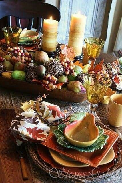 Pin By Debra On Table Decorating Fall Table Settings Autumn