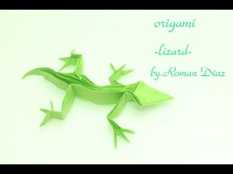 origami lizard tutorial by.Roman Diaz - YouTube