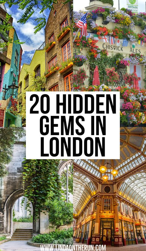 20 Hidden Gems In London Not Yo Miss what to see in London things to do in London London England Great Britain Pretty places to visit in London London travel tips Cool Places To Visit, Places To Travel, Travel Destinations, Vacation Places, Travel Deals, Travel Photographie, Alesund, Voyage Europe, Destination Voyage