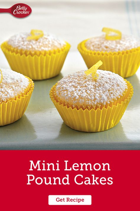 Make these Mini Lemon Pound Cakes from scratch with this spring dessert recipe. Pin these for your next seasonal celebration.