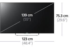 Resultado De Imagen De Medidas Tv 55 Pulgadas Tv Led Tv Tv Size