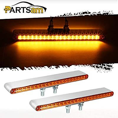 Amazon Com Partsam 2pcs 12 Dual Face 20 Led Auxiliary Light Bar Pedestal Lights Trailer Trucks Turn Signal And Marker Light In 2020 Light Trailer Bar Lighting Lights