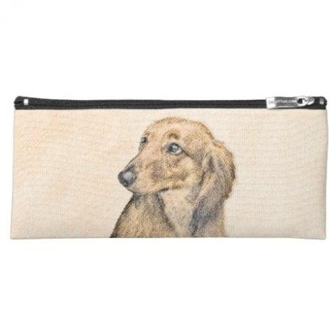Dachshund (Longhaired) Painting - Original Dog Art Pencil Case dachshund silhouette, winner dogs dachshund, wirehaired dachshund #dachshundsofinstagrams #dachshundfanclub #dachshundbaub, 4th of july party #dog #Labrador #puppy