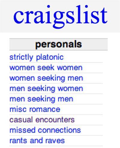 Personals sites like craigslist