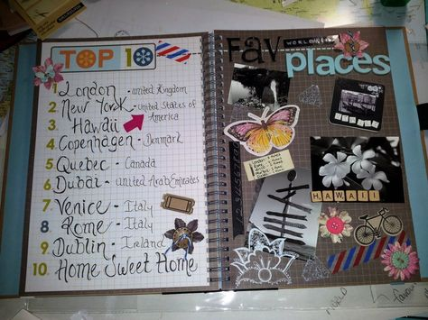 smashbook page - love the look of the page on the left and this theme would be cool with local places if like me you don't really travel and are a homebody