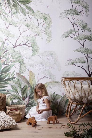 Mural Forest Per Sqm Kids Room Wallpaper Kids Wallpaper Nursery Wallpaper