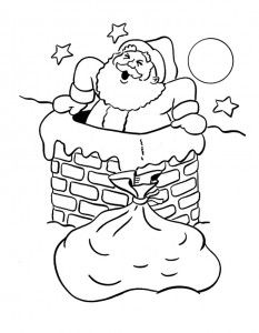 Desenhos Papai Noel Imprimir Colorir Pintura 3 Papai Noel Para