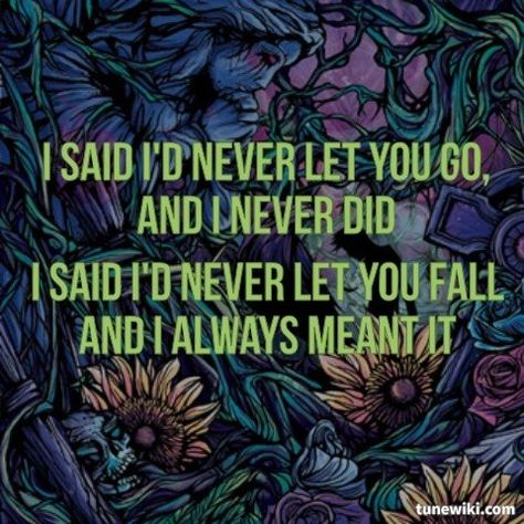 Lyricart For Have Faith In Me By A Day To Remember Love Band