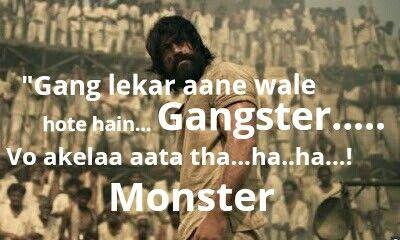 Kgf Yash Motivational Quotes In Hindi Bad Attitude