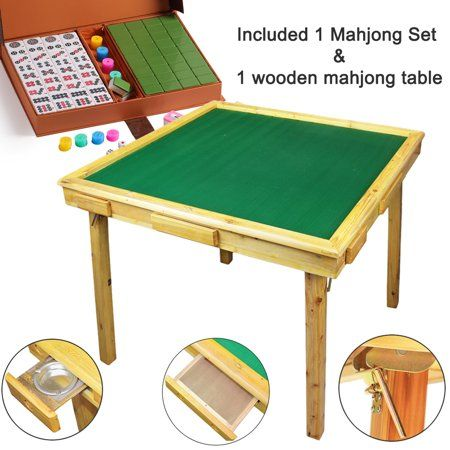 Xxxxx 35 Mahjong Game Portable Folding Reversible Wooden Square Large Table A Complete Set 144 Numbered X Large Tile Mahjong For Poker Dominoes Card Paigow Mahjong Table Large Table Poker Table Diy