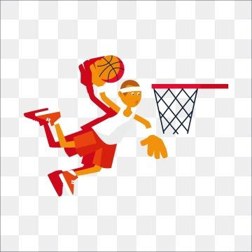 Motion Dunk Basketball Red Cartoon Mobilization Basketball Mobilization Dunk Action Png And Vector With Transparent Background For Free Download Graphic Design Background Templates Free Graphic Design Basket Quilt