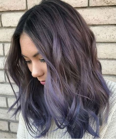 Sizzling Brunette to Lavender Ombre Hair Color Worth Checking Out
