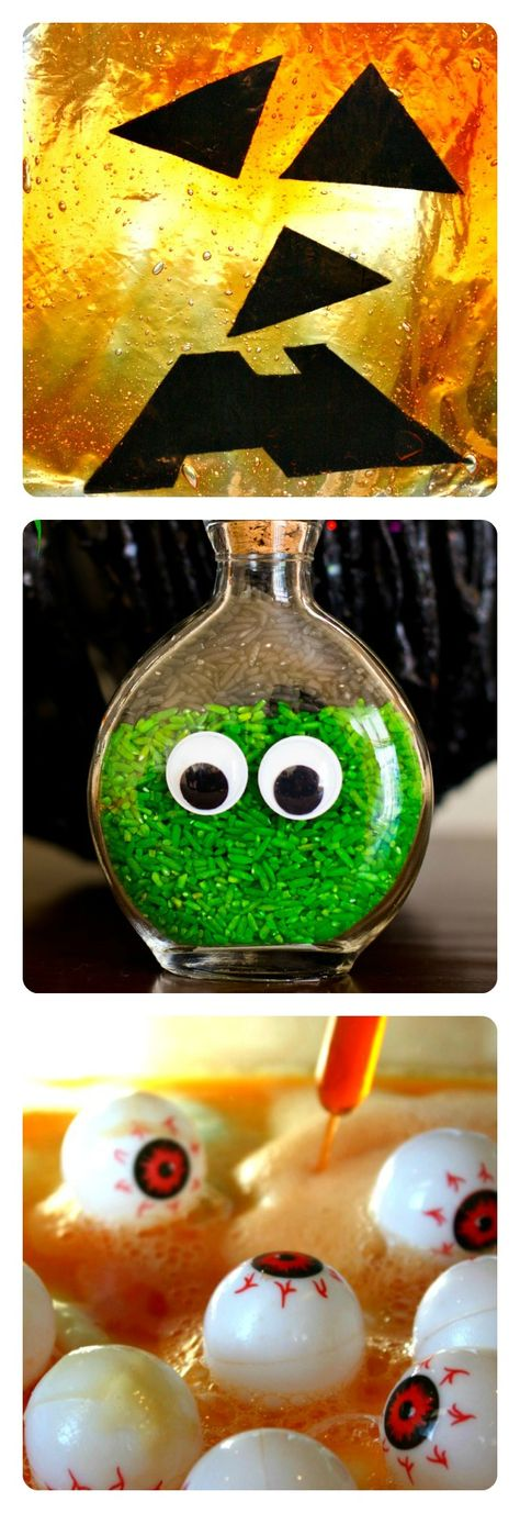 25 Halloween Science and Sensory Activities for Kids from www.fun-a-day.com {from Share It Saturday} I like the green rice eye bottle