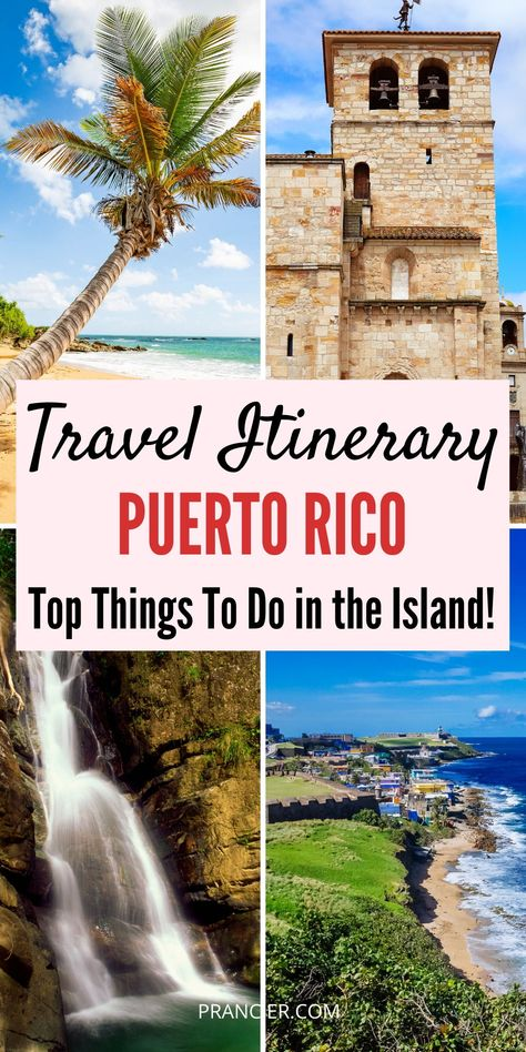 This is the perfect travel itinerary for your 4 days in Puerto Rico! Check out some of the best restaurants, attractions, and travel tips you'll need to make the most of your trip! Bermuda Vacations, Vacation Destinations, Vacation Trips, Vacation Deals, Travel Deals, Travel Hacks, Travel Essentials, Budget Travel, Puerto Rico Trip