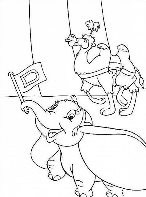 Disegni Da Colorare Per Bambini Disney.Bumbo E Il Cammello Al Circo Disegni Per Bambini Disegni Da