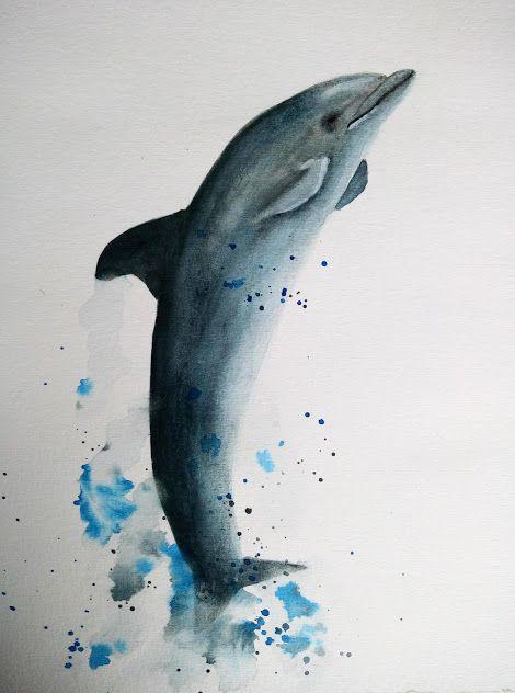 Peindre Un Dauphin A L Aquarelle Video Peinture Aquarelle