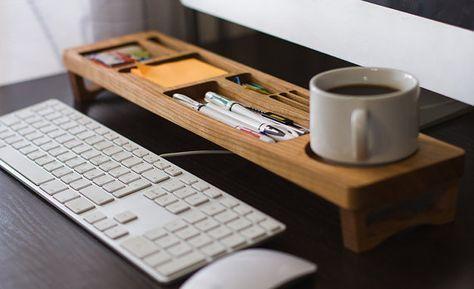 Escritorio Madera Escritorio Organizador Oficina Por Iwooddesignua Meja Kerja Ruang Kerja Cool Stuff