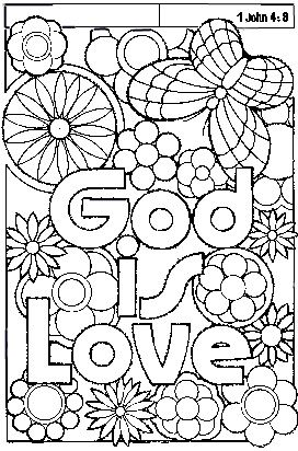 God Is Love Coloring Sheet | Education | Love coloring pages, Bible ...