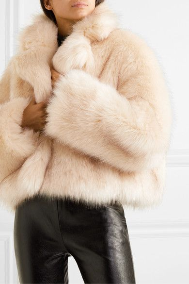 Tonal-beige faux fur Slips on polyester Dry clean Imported Fashion 2020, Love Fashion, Classy Casual, Faux Fur Jacket, Autumn Winter Fashion, Fall Fashion, Studio, Passion For Fashion
