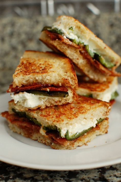 Jalapeno Popper Inspired Grilled Cheese