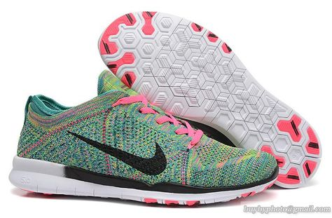 4677d8ed10f3 Men s And Women s Nike Free 5.0 TR Flyknit Green Pink Black