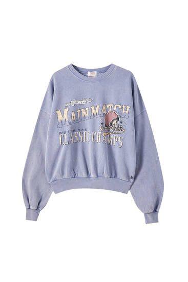Sweatshirt Beautiful Of Pull And Bear En 2021 Camisetas Mujer Buzos Estampados Sudaderas