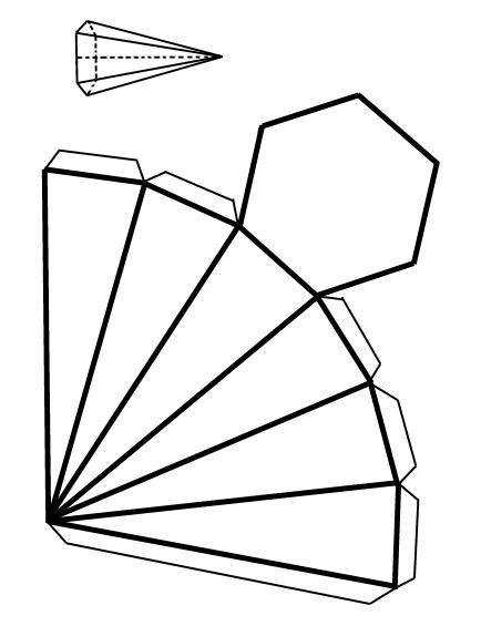 Como Hacer Una Piramide Con Base Hexagonal 5 Pasos Figuras Geometricas Para Armar Cuerpos Geometricos Para Armar Como Hacer Una Piramide