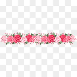 Romantic Pink Roses Dividing Line Romantic Valentine S Day Hand Painted Flowers Png Transparent Clipart Image And Psd File For Free Download Pink Rose Flower Valentines Day Cartoons Flower Painting