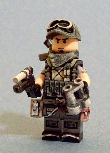 Custom North Vietnam Soldier Made From Real Lego