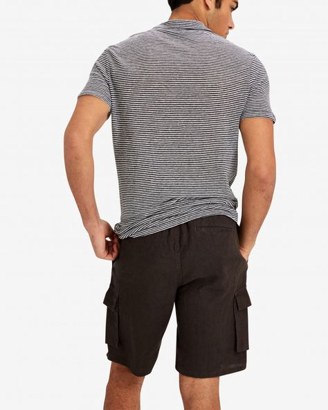 5416d2f218 Onia Tom Linen Cargo Shorts - Charcoal XXL | Products