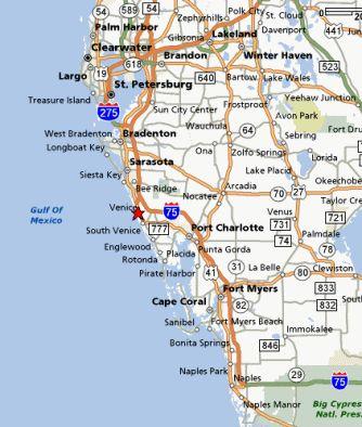 The Beaches In Venice Are Beautiful Venice Florida And - Venice beach florida map