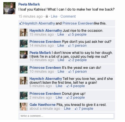 Okay I'm pinning a lot of hunger games humor but I can't help it this is hilarious