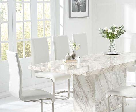 Calacatta 220cm Marble Dining Table