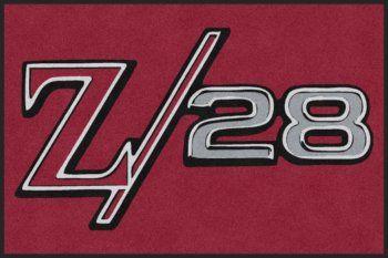 Custom Chevrolet Camaro Z28 Logo Rug Camaro Chevrolet Camaro