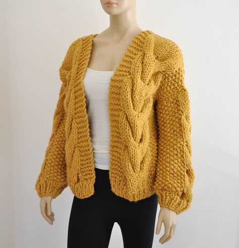 d049e3576 Hand knitted cardigan for women Chunky handknitted sweater Oversized ...