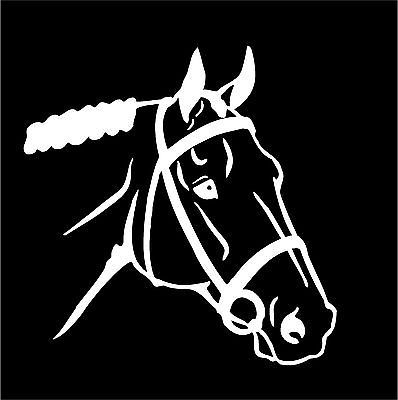 Gaited Horse Head Decal Equestrian car window trailer vinyl sticker graphic