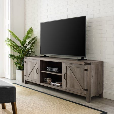 Home Barn Door Tv Stand Living Room Tv Farmhouse Tv Stand