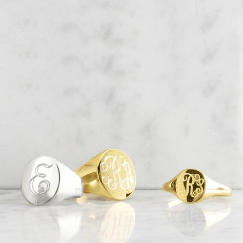 Petite Signet Ring | Mark and Graham I've been wanting one of these rings for ages!!