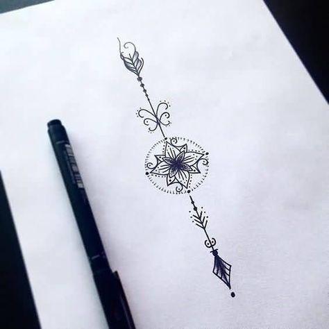 New Black And Grey Ink Arrow Tattoos Design