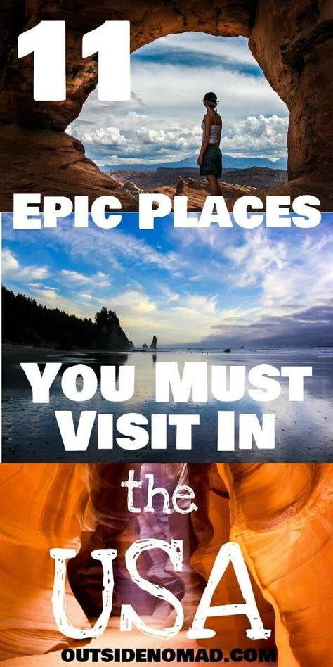 Are you planning a road trip?  Be sure to check out these classic and lesser-known USA travel destinations.  US travel at its best.    #arches #lostsea #napali #horseshoebend #craterlake #antelope #mesaverde #sequoia #   via @outsidenomad