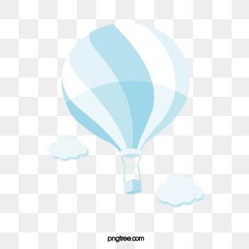 Simple Style Light Blue Hot Air Balloon Balloon Clipart Wathet Soft Pale Png And Vector With Transparent Background For Free Download Hot Air Balloon Cartoon Balloon Cartoon Balloons