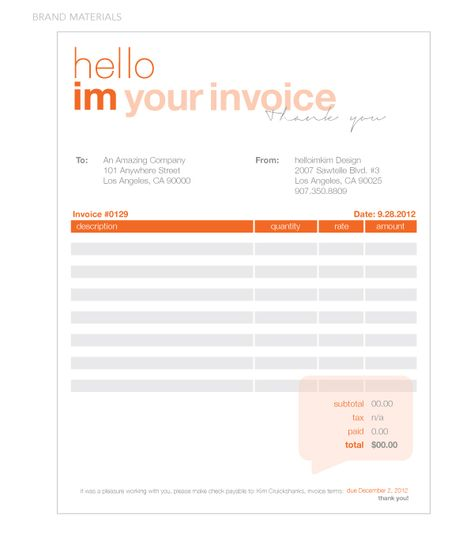Invoice Design 50 Examples To Inspire You 50th, Editorial - how to write invoices